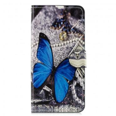 """Divatos """"Blue Buttefly"""" tárca Huawei Honor 8X készülékekhez"""
