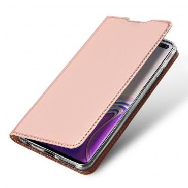"""Divatos """"Skin"""" műbőr tárca Samsung Galaxy S10 Plus készülékekhez – rózsaszín"""