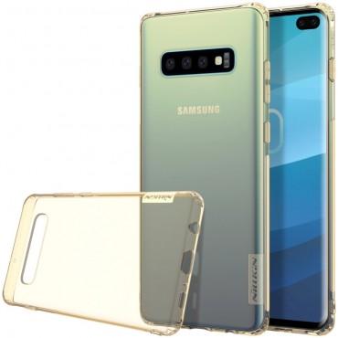 """Vékony """"Nature"""" prémium védőtok Samsung Galaxy S10 Plus készülékekhez - aranyszínű"""