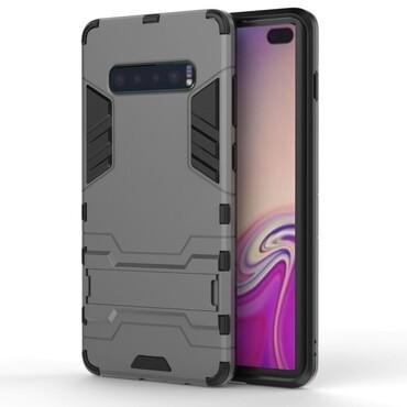 """Strapabíró """"Impact X"""" védőtok Samsung Galaxy S10 Plus készülékekhez – szürke"""