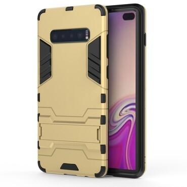 """Strapabíró """"Impact X"""" védőtok Samsung Galaxy S10 Plus készülékekhez – aranyszínű"""