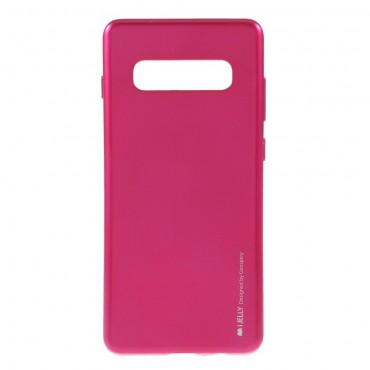 Goospery iJelly Case TPU géles védőtok Samsung Galaxy S10 Plus készülékekhez – magenta