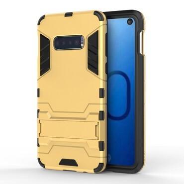 """Strapabíró """"Impact X"""" védőtok Samsung Galaxy S10e készülékekhez – aranyszínű"""