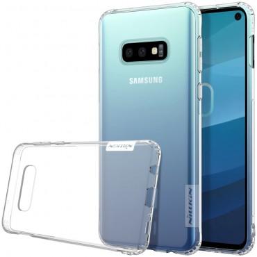 """Vékony """"Nature"""" prémium védőtok Samsung Galaxy S10e készülékekhez - átlátszó"""