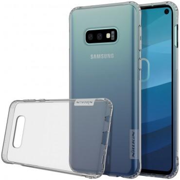 """Vékony """"Nature"""" prémium védőtok Samsung Galaxy S10e készülékekhez – szürke"""