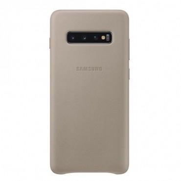 "Eredeti Samsung ""Leather Cover"" védőtok Samsung Galaxy S10 Plus - aranyszínű"