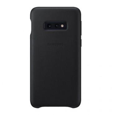 """Eredeti Samsung """"Silicone Cover"""" védőtok Samsung Galaxy S10e - fekete"""