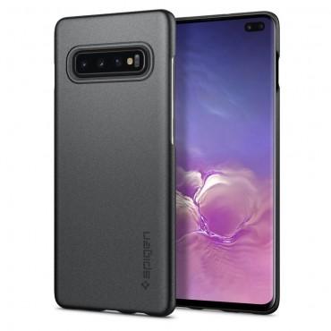 """Spigen """"Thin Fit"""" védőtok Samsung Galaxy S10 Plus készülékhez – gray"""