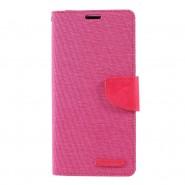 Nyitható tok Goospery Canvas Diary Huawei P30 Pro készülékekhez - rózsaszín