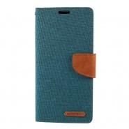 Nyitható tok Goospery Canvas Diary Huawei P30 Pro készülékekhez - zöld