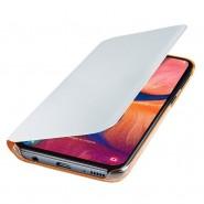 """Eredeti nyitható tok """"Flip Wallet"""" Samsung Galaxy A20e készülékekhez - fehér"""