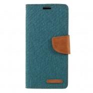 Nyitható tok Goospery Canvas Diary Huawei P30 Lite készülékekhez - zöld