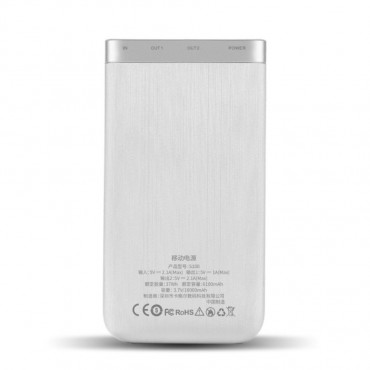 "Power bank Cager ""S100"" - 10000 mAh - fehér"