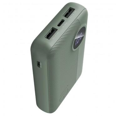 "Power bank Rock ""P75"" - 10000 mAh - zöld"