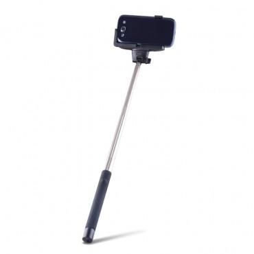 """Széthúzható bluetooth selfie stick """"Quick Snap"""" mobilkészülékekhez - fekete"""
