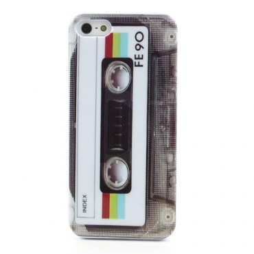 """TPU gél tok """"Retro Casette"""" za iPhone SE / 5 / 5S készülékekhez"""