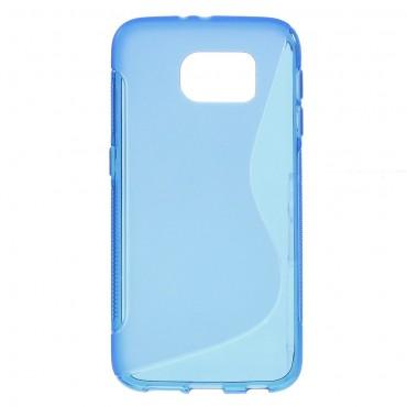 """TPU gél tok """"S-Line"""" Samsung Galaxy S6 készülékekhez - kék"""
