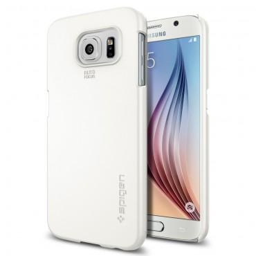 """Spigen SGP """"Thin Fit"""" védőtok Samsung Galaxy S6 készülékekhez – shimmery white"""