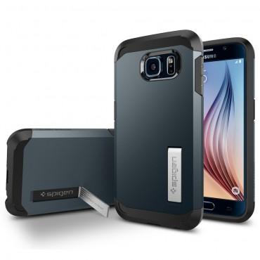 """Spigen SGP """"Tough Armor"""" védőtok Samsung Galaxy S6 készülékhez – metal slate"""